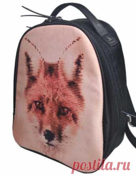Рюкзак женский 2805-009 рисунок лиса в интернет-магазине Ollbag.ru