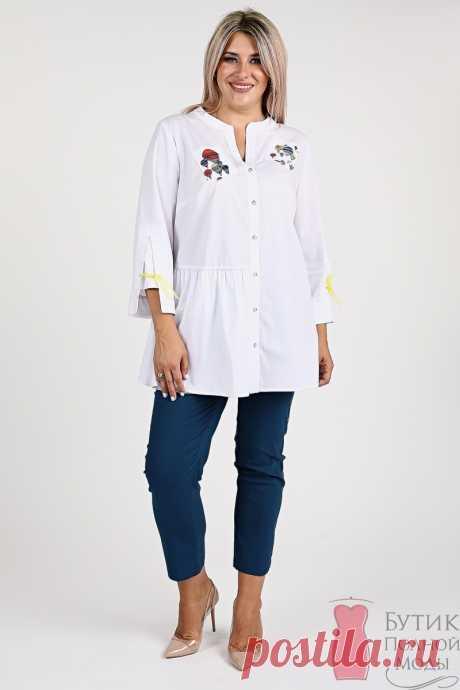 Рубашка большого размера 1121 Белый