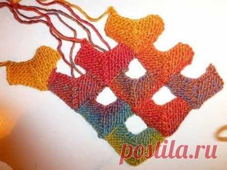(25) Вязаный пэчворк. Мастер-класс. Knitted patchwork. Tutorial. - YouTube