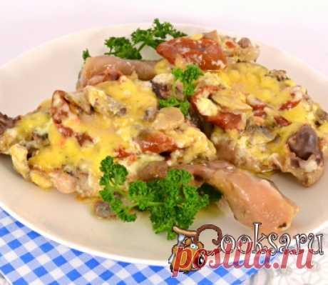Куриные ножки с вялеными помидорами и сыром в мультиварке фото рецепт приготовления