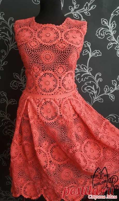 Платье Amore крючком из мотивов - Вязание - Страна Мам