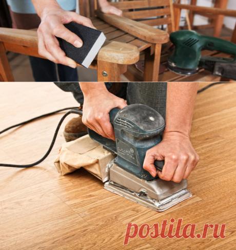 Шлифовка предметов мебели: самый дешевый и простой способ, советы по ручной обработке древесины