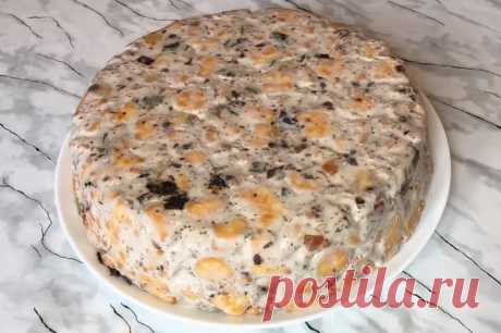 Простейший торт без выпечки: вкусный и очень красивый