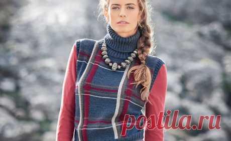 Схемы вязания жилетов спицами для женщин на Verena.ru