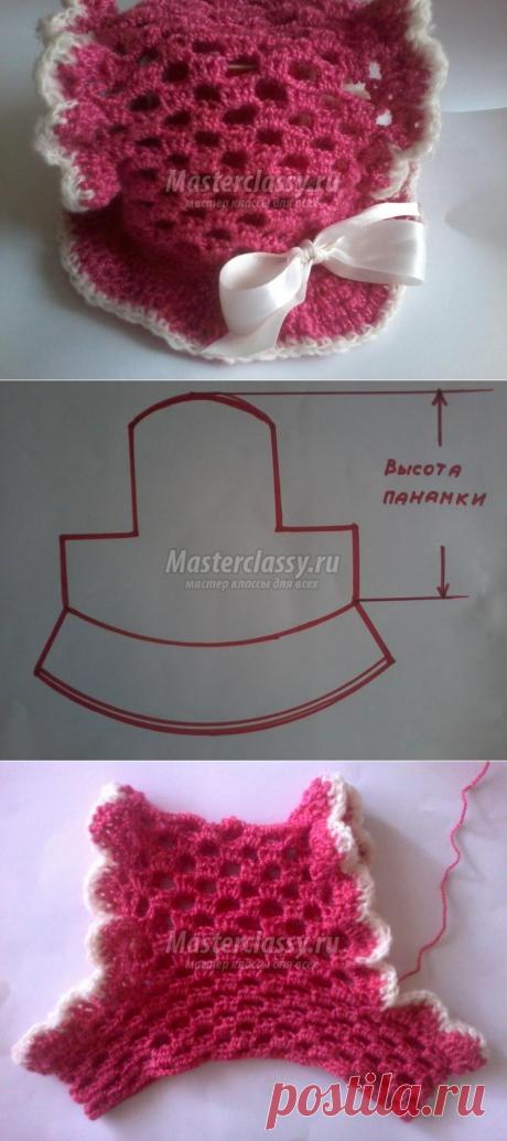 Вязаная панамка для девочки с отверстиями для хвостиков. Мастер-класс с пошаговыми фото