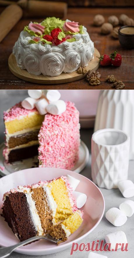 Крем для бисквитного торта – 15 проверенных рецептов | Волшебная Eда.ру