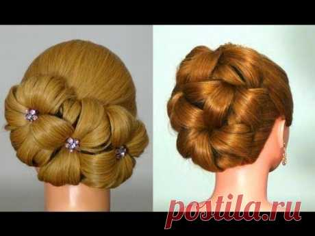 Hairdress for long hair for New Year! Hairstyle for New Year