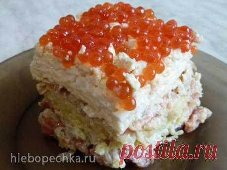 Праздничный салат с солёной горбушей - Хлебопечка.ру
