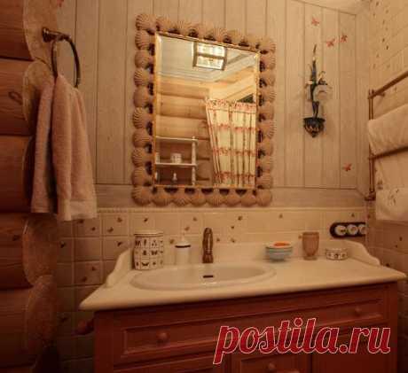 Плитка в деревянном доме Необходимо выполнить отделочные работы в ванной комнате деревянного дома? Попробуем разобраться с этим вопросом, часто тревожащим владельцев экологичного жилья.