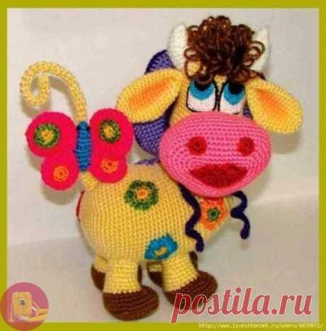 Счастливая цветочная корова — Сделай сам, идеи для творчества - DIY Ideas