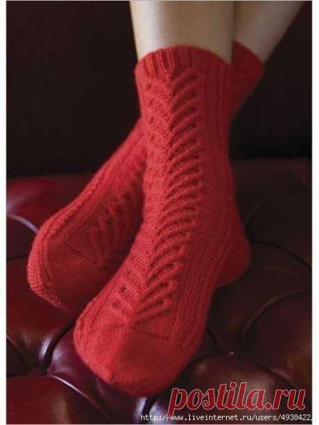 Задорные красные носочки! из категории Интересные идеи – Вязаные идеи, идеи для вязания