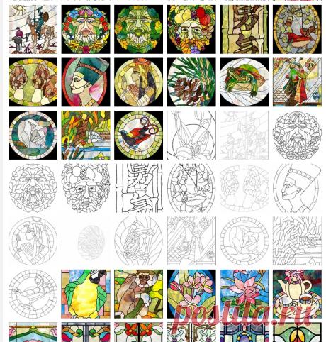 Рисунки для витражей - 1071 фото. Фотографии Ольга -.