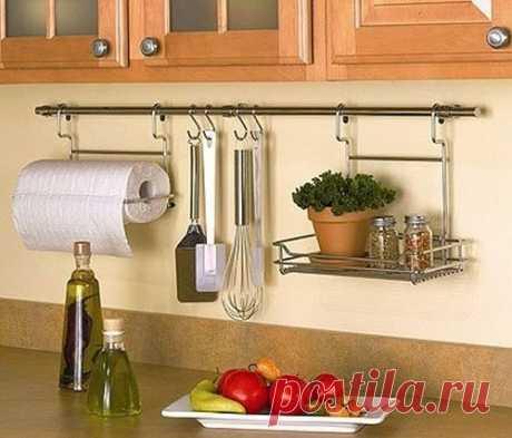 Как использовать рейлинги для кухни максимально полезно