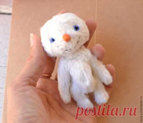 Шьем милого тедди-снеговичка – Ярмарка Мастеров