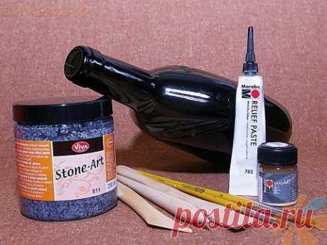 Мастер-класс по росписи бутылки витражными красками