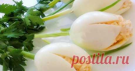 Закуска «Белые тюльпаны» — 1001 СОВЕТ