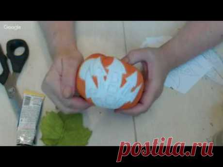 Вебинар.Анастасия Голенева.Шьем тыкву в технике грунтованный текстиль.