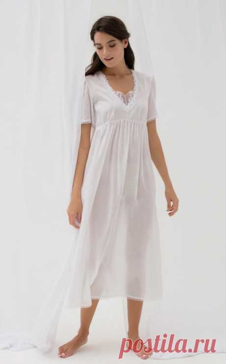 Shirts female white color in Patya's Pyjamas online store
