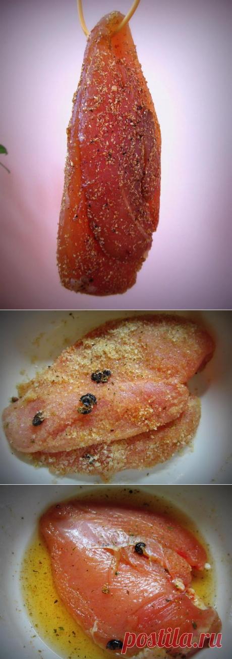 Отменный мясной деликатес в домашних условиях… Сыровяленая куриная грудка — Вкусные рецепты
