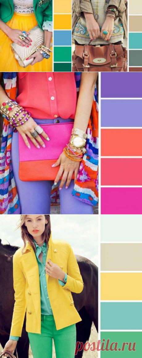 15 примеров идеального сочетания цветов в одежде...