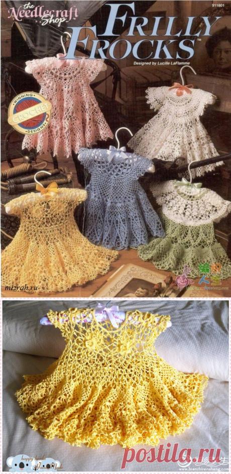 Для маленьких модниц: 5 летних платьев крючком