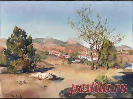 20200917 Судак, окрестности горы Перчем. Акварельный этюд. Plein air watercolor landscape