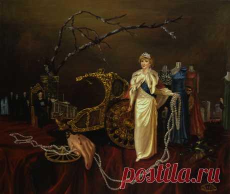 Серия из 7 картин Принцесса Диана.  Жизнь. Холст,масло. 50х60см. Картины находятся в Лондоне.