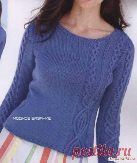 Пуловер с асимметричным узором — Сделай сам, идеи для творчества - DIY Ideas