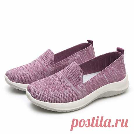 Women Mesh Slip On Sport Soft Sole Casual Flat Shoes - US$24.99