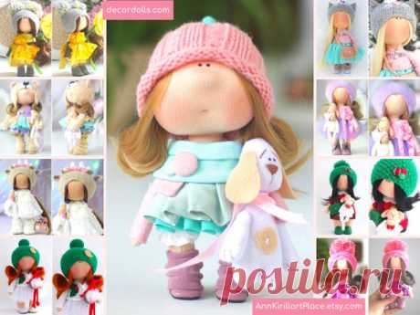 Beautiful Baby Doll, Handmade Tilda Doll, Interior Decor Doll, Sweet Gift Doll, Small Original Soft Doll, Cloth Art Rag Doll by Natalia Pe Hello, dear visitors!  This is handmade textile doll created by Master Natalia Pe (Moscow, Russia). Doll is READY for shipment. Order processing time is 1 - 2 calendar days.  All dolls stated on the photo are made by artist Natalia Pe. You can find them in our shop searching by artist name:
