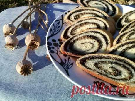 Рулет с маком - пошаговый рецепт с фото на Повар.ру