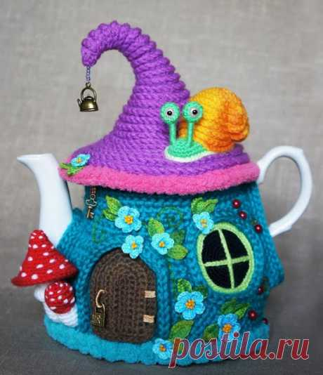 Кукляндия: Грелка на чайник «Сказочный домик». Часть 1