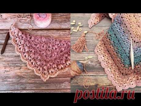 Puff Garden Shawl - UPDATED Crochet Tutorial - RIGHT HANDED