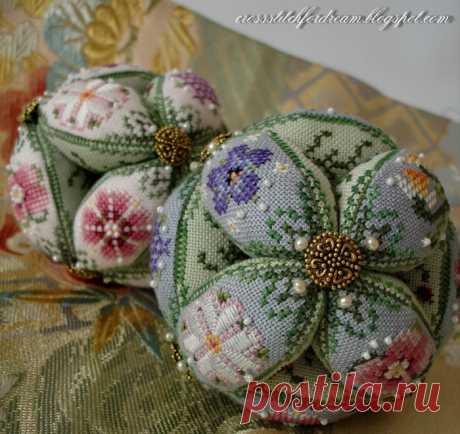 ВЫШИВАЕМ ШАРИКИ Just Nan Ball НА НОВОГОДНИЙ ПРАЗДНИК - Ketevan Kalatozishvili — LiveJournal
