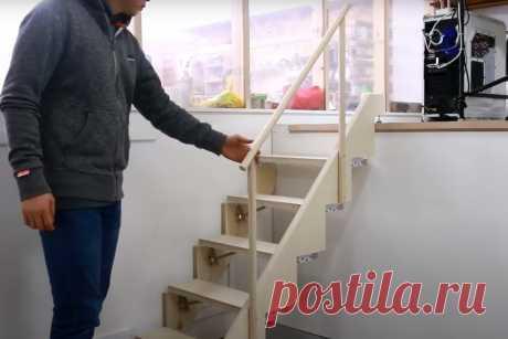 Компактная деревянная лестница для дома   Роскошь и уют