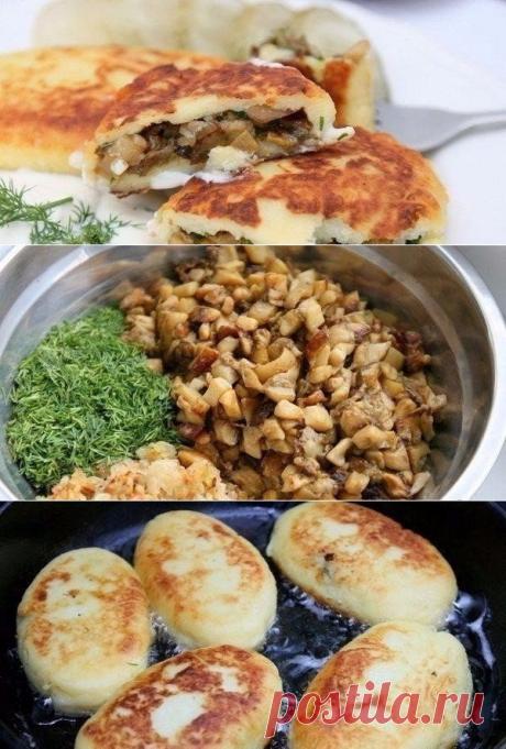 Как приготовить картофельные пирожки с грибами - рецепт, ингридиенты и фотографии