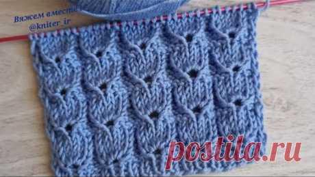 💙 Узоры спицами✓ Рельефный Вертикальный узор для теплого свитера, кардигана, джемпера 🧶 Knitting.