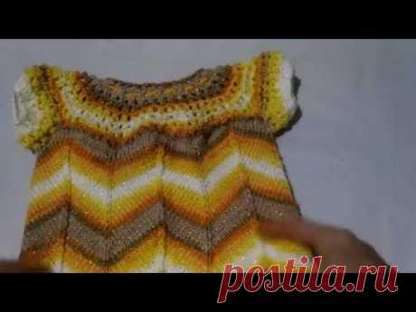 МК Детское платье Вязание спицами на любой размер