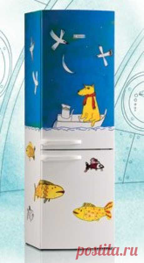 aerografiya sobre el refrigerador