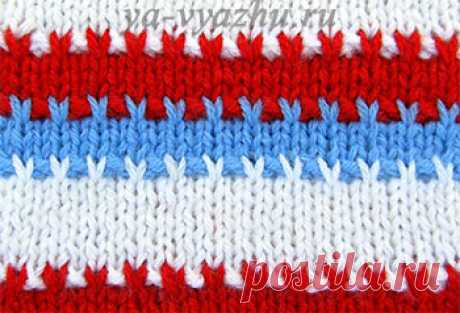 Two-color and three-colored patterns spokes | Knitting mood... This is lazy Jacquard