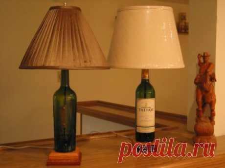 Как сделать лампу из бутылки | Своими руками