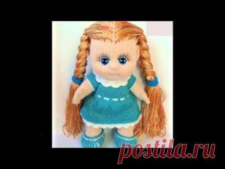 Очаровательные вязаные куклы крючком и спицами