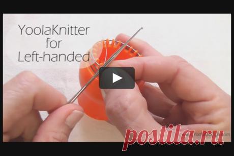 YoolaKnitter for left handed A demonstration how to use the YoolaKnitter for left handed