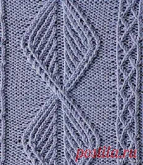 26 узоров из кос для вязания спицами.