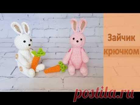 Зайчик с морковкой крючком / Crochet rabbit pattern