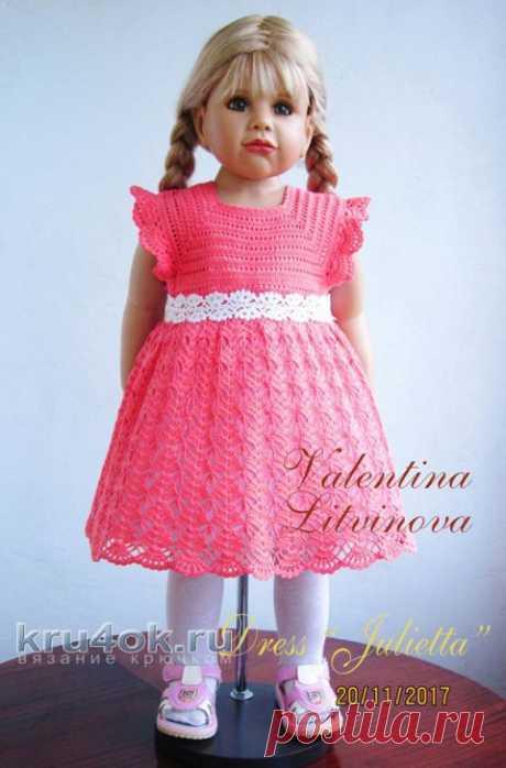 Детское платье Julietta крючком. Работа Валентины Литвиновой