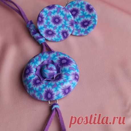 Комплект Круглое цветочное настроение ручной работы