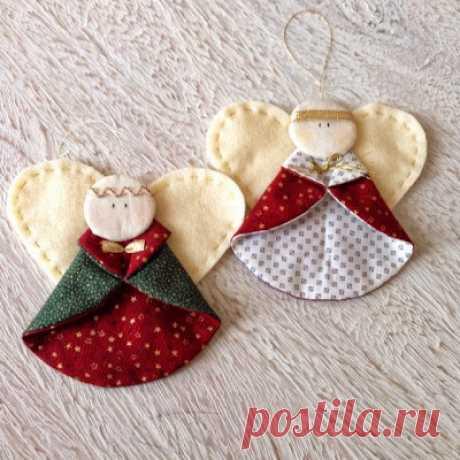 Очаровательные ангелы – украшение для новогодней ёлки