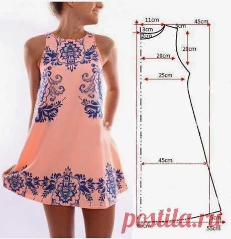 Простые модели платьев с выкройками