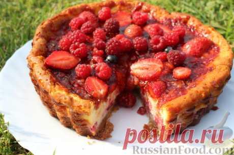 Рецепт: Чизкейк со свежими ягодами на RussianFood.com
